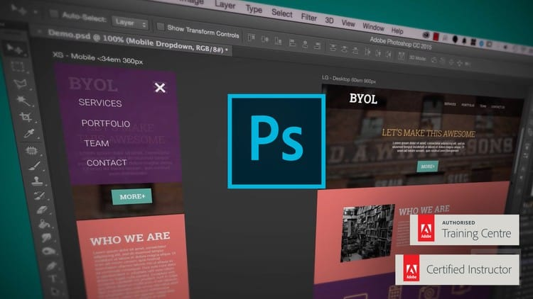Photo of ADOBE PHOTOSHOP CC – WEB DESIGN, RESPONSIVE DESIGN & UI